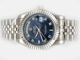 Fake Cool Rolex Day-Date Automatic Timantti Merkintä Blue Dial A
