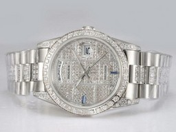 Fake Cool Rolex Day-Date Automatic Timantti Kehys Ja Dial AAA ke