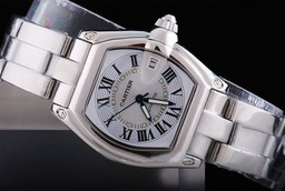Fake Pohjimmainen Cartier Roadster Working Chronograph White Dia