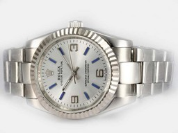 Fake Cool Rolex Air-King Oyster Perpetual Automatic Valkoinen So