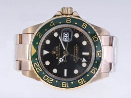 Fake Cool Rolex GMT - Master II Automatic Full Gold Dial - Vihre
